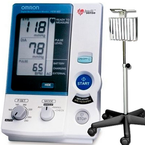 Omron Hem 907xl Pro Blood Pressure Monitor With Stand B4